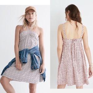 Madewell Silk Convertible Halter Dress  Size 6